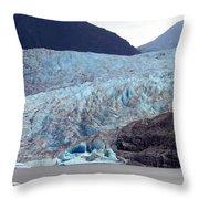 Sawyer Glacier Throw Pillow