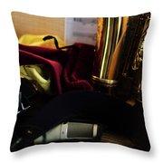 Sax In Repose Throw Pillow
