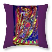 Sax Jazzed In Pink Throw Pillow