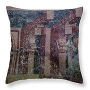 Saxon Medieval Frescoes, Transylvania Throw Pillow