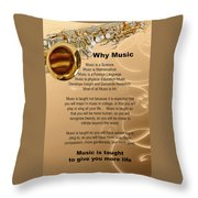 Saxophone Photograph Why Music For T-shirts Posters 4827.02 Throw Pillow