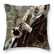 Saxplayer 570120 Throw Pillow