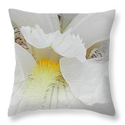 Say Ahhh Iris Series 11 Throw Pillow