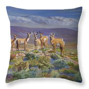 Say Cheese Antelope Throw Pillow