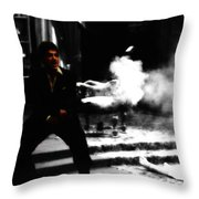 Say Hello To My M203 Throw Pillow