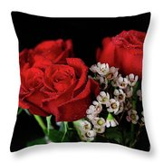 Say It With Flowers Throw Pillow by Tracy Hall