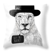 Say My Name Throw Pillow