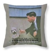 Say Please Quote Throw Pillow