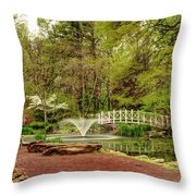 Sayen Gardens Bridge Series Throw Pillow