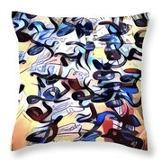 Saying It Again - Quietly  Throw Pillow