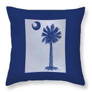Sc Palmetto And Crescent Throw Pillow