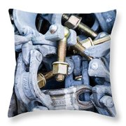 Scaffold Clamps Throw Pillow