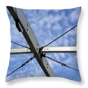 Scaffolding Sky View Throw Pillow