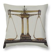 Scales For Weighing Gold Throw Pillow