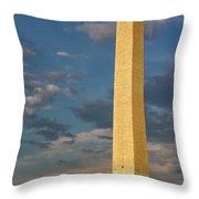 Scaling The Washington Monument Throw Pillow