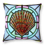 Scallop Shell 1 Throw Pillow