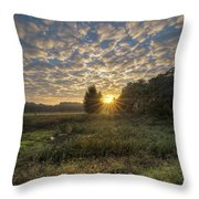 Scalloped Morning Skies Throw Pillow
