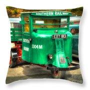 Scammell Mechanical Horse Throw Pillow