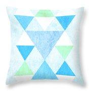 Scandi Blue Throw Pillow