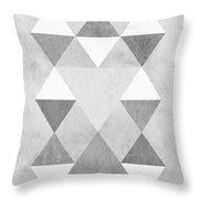 Scandi Grey Throw Pillow