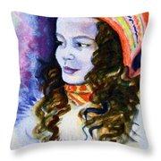 Scandinavian Girl Throw Pillow