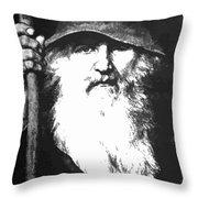 Scandinavian Mythology The Ancient God Odin Throw Pillow