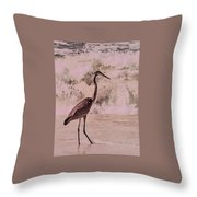 Scanning The Surf Throw Pillow