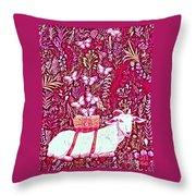 Scapegoat Healing In Fuchsia Throw Pillow