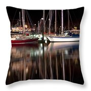 Scarborough Boats Throw Pillow by Svetlana Sewell