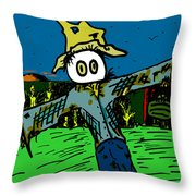 Scare-cronkle Throw Pillow