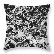 Scarecrows From All Hallows Way Throw Pillow