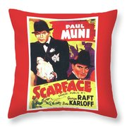 Scarface 1932 French Revival Unknown Date Throw Pillow