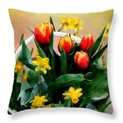 Scarlet And Gold Throw Pillow