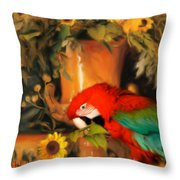 Scarlet Badboy Throw Pillow