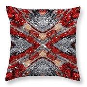 Scarlet Entanglement Throw Pillow