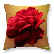 Scarlet Flamenco Throw Pillow
