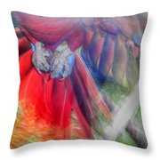 Scarlet In Flight Throw Pillow