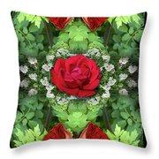 Scarlet Rose Throw Pillow