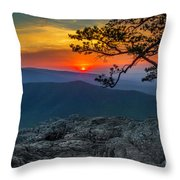 Scarlet Sky At Ravens Roost Throw Pillow