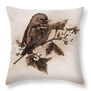 Scarlet Tanager - Tint Throw Pillow