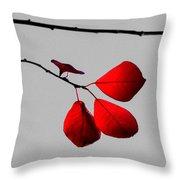 Scarlet Triad Throw Pillow
