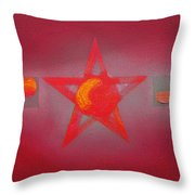 Scarlet Vermillion Throw Pillow
