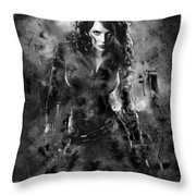 Scarlett Johansson Black Widow Throw Pillow