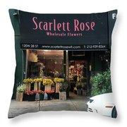 Scarlett  Rose Throw Pillow