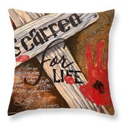 Scarred For Life Throw Pillow
