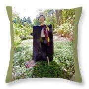 Scarry Potter Scarecrow At Cheekwood Botanical Gardens Throw Pillow