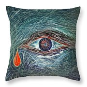Scars In My Soul Throw Pillow