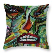 Scars Of Survival Throw Pillow