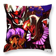 Scary Clowns Abstract Throw Pillow