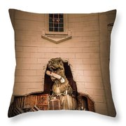 Scary Dinosaurs At Top Secret In Wisconsin Dells. Throw Pillow